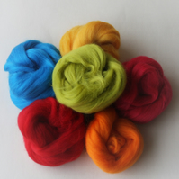 """Merino Brights"" Wool Pack -  60g pack of Merino wool in vibrant colours"