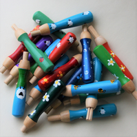 Choose you own design, hand painted wooden needle grip for felting MADE TO ORDER
