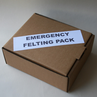 EMERGENCY FELTING PACK - Bargain basic needle felting starter kit for beginners