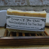 Handmade Neem,Eucalyptus & Tea Tree Goats Milk Soap Bar