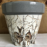 Handmade Decoupaged Terracotta Plant Pot