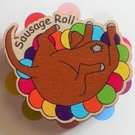 Sausage Roll, Dachshund Pin, Wooden Pin