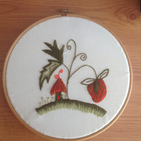 Strawberry Patch Crewel Work Kit