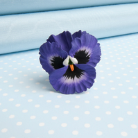 Pansy Flower Brooch