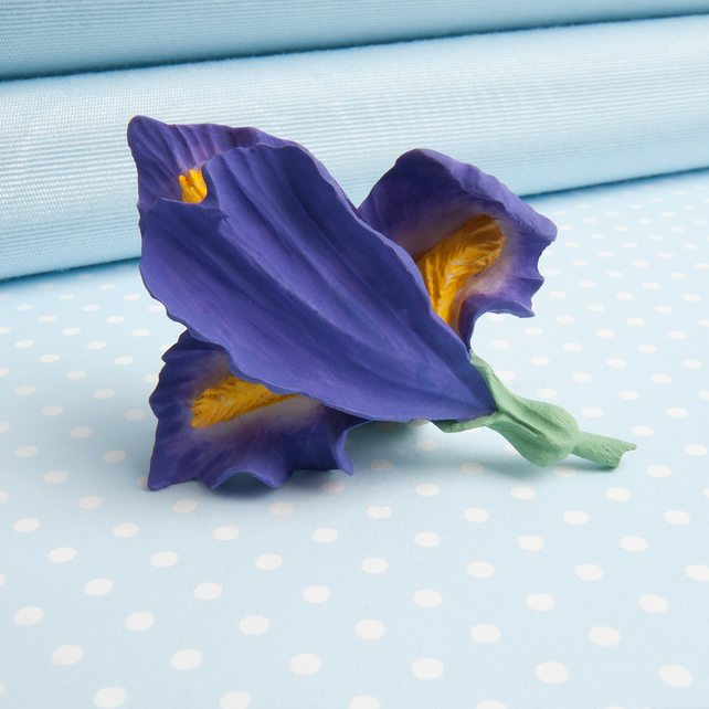 Iris Flower Brooch