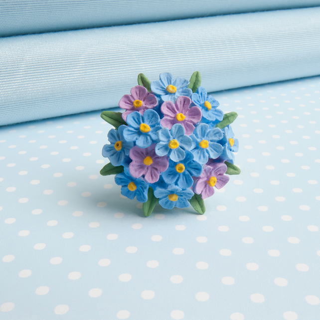 Forget me Not Flower Brooch