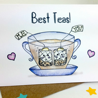 Best Teas - Tea Loving Best Friend Punny Birthday Card