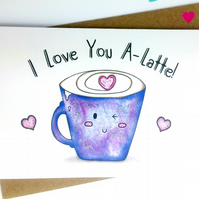 Coffee Lover's Food Pun Anniversary, Birthday or Love Card
