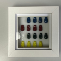 Fused Glass Gummy Bears Picture in a Box Frame
