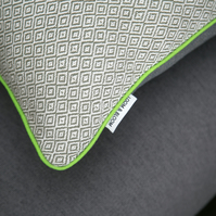 Decorative Hand woven cushion - Decorative pillow - Cool green piping