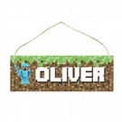 Personalised Minecraft Style Minifigure Plaque