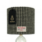 Harris Tweed 20cm Lampshade, Black and White Houndstooth