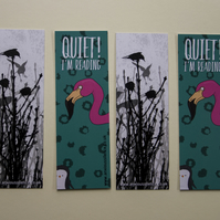 Irked Flamingo, Starlings In Winter Bookmarks (pack of 5)