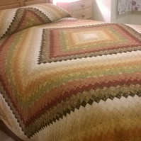 King size patchwork quilt