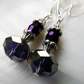 Purple Crystal Earrings, Crystal Drop Earrings 6
