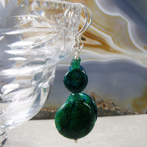 Long Jasper Earrings, Handmade Gemstone Earring Design MS526