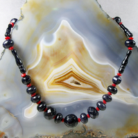 Blue Goldstone Gemstone Necklace Unique Handmade Design MS535
