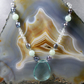 Aqua Quartz Gemstone Necklace, Unique Necklace Design MS 486