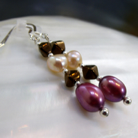 Pretty Pearl Drop Earrings, Romantic Pearl Earrings