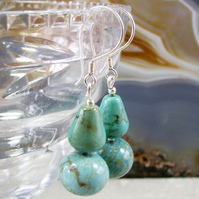 Turquoise Dangle Earrings  MS452