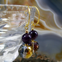Crystal Drop Earrings, Unique  Gemstone Earrings MS442