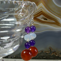 Carnelian Gemstone Drop Earrings MS500