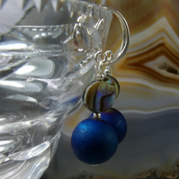Unique Gemstone Earrings, Paua Shell Drop Earrings MS472