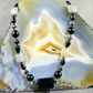 Gemstone Necklace, Black Unique Necklace Design  MS443
