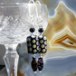 Long Black Beaded Earrings MS392