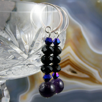 Long Gemstone Earrings MS391
