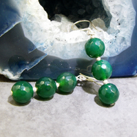 Green Gemstone Earring, Green Earring Design  MS344