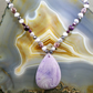 Lilac Pendant Necklace,  Romantic Gemstone Necklace MS402