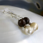 Pearl & Gemstone Earrings, Jade & Pearl Drop Earrings MS560