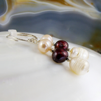 Freshwater Pearl Earrings, Pearl Drop Earrings MS561