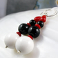 Long Gemstone Earrings, Long White, Red, Black Earrings MAS568
