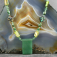 Green Necklace, Green Aventurine Necklace MS590