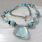 Aqua Quartz Necklace, Quartz Necklace FN8