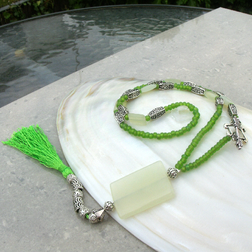 Jade Necklace, Green Necklace FN16