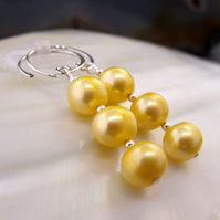Pearl Earrings, Handmade Earrings  ms583