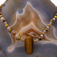 Tigers Eye Necklace, Gemstone Necklace  MS612