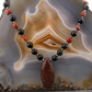 Jasper Pendant Necklace, Unique Gemstone Necklace MS613