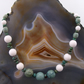White Jade & Turquoise Necklace, Unique Gemstone Necklace MS614