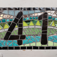 Mosaic House  Number Plaques (One digit)