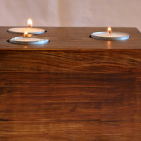 Rustic Solid Wood Tealight Candle Holder Made from Recycled Pallet