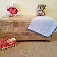 Large Wooden Toy Box - Personalised - Handmade - Recycled Wood - Kids