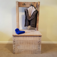 Kids Coat and Shoe Bench, Coat Hooks, Shoe Chest - Handmade from Reclaimed Wood