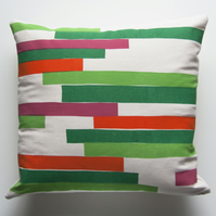 Jardín - Handmade Screen Printed 18 inch Cushion with Concealed Zip