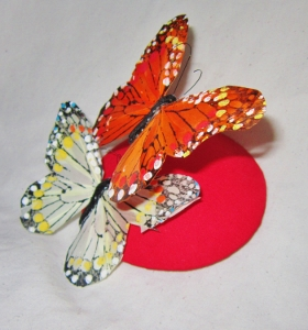SALE - Red Butterfly Fascinator