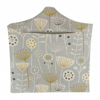 Bergen Grey Fabric Peg Bag & Wooden Hanger