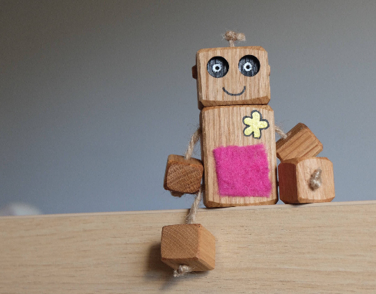 Ned the wooden Robot